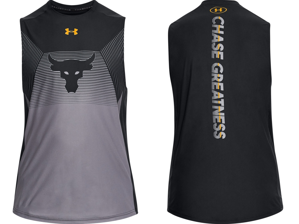 under armour project rock chasing greatness sleeveless - The Rock 精神,永不言弃!