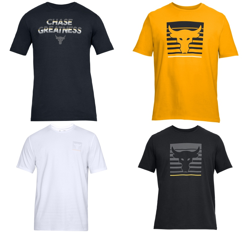 under armour project rock chasing greatness t shirt - The Rock 精神,永不言弃!