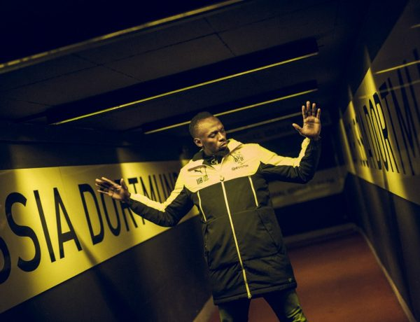 usain bolt training with borussia dortmund BIG 600x460 - Usain Bolt 短跑飞人转换足球跑道!