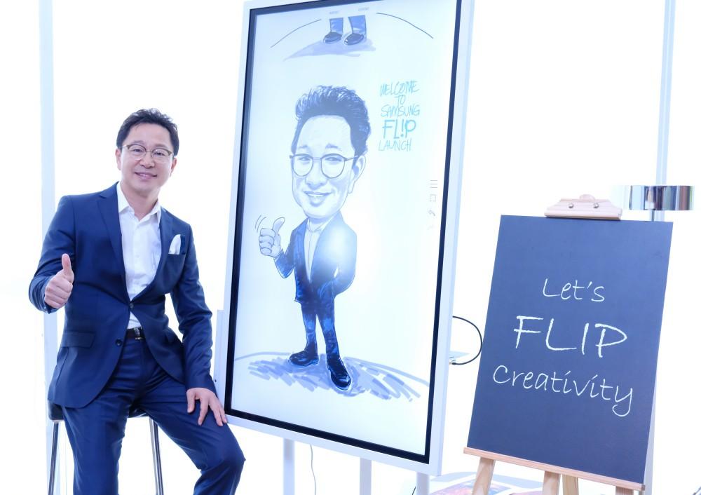 "Samsung digital flip chart board samsung flip 6 - Samsung Flip  智能办公白板,打造""无纸""时代"
