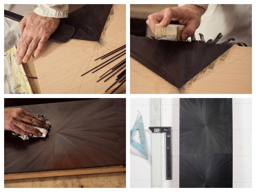 armani casa club bar cabinet black straw marquetry  - Armani/Casa 对生活的内敛优雅