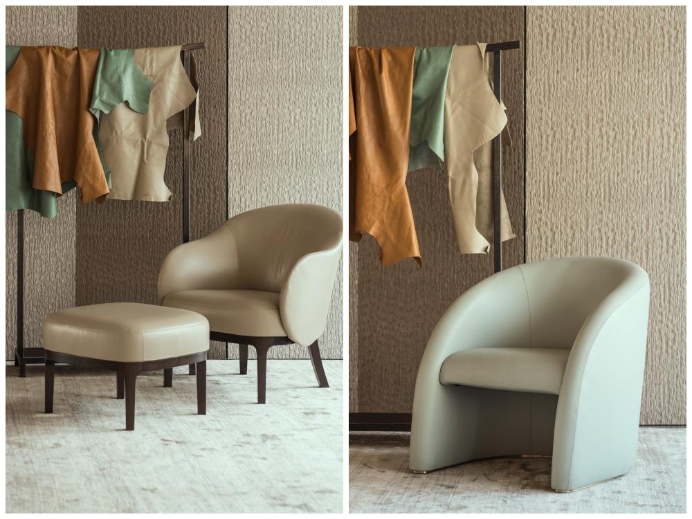 armani casa leather chairs set  - Armani/Casa 对生活的内敛优雅