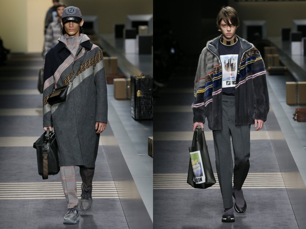 fendi fall winter 2018 mens collection 1 - 启航至Fendi 2018秋冬时尚!