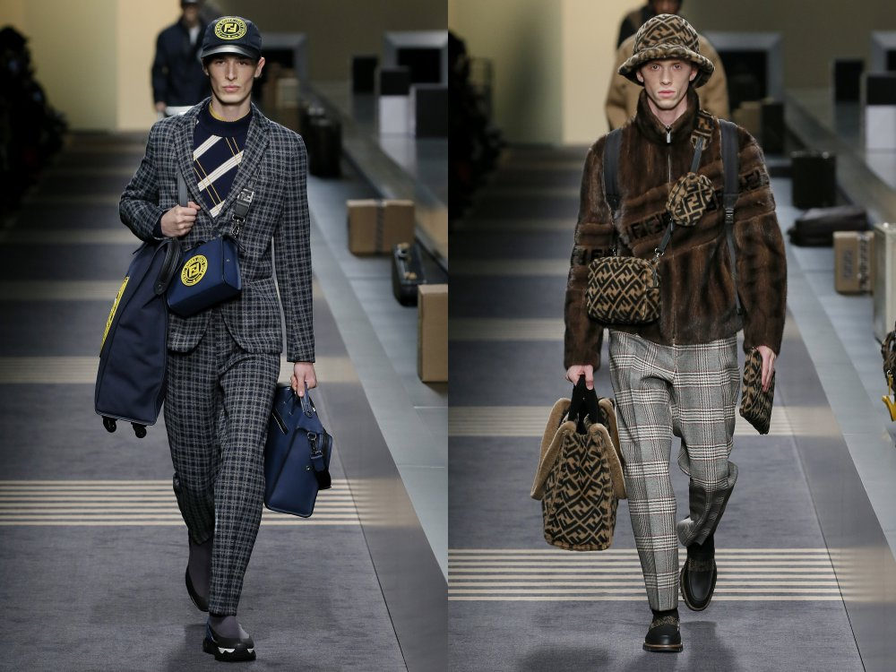 fendi fall winter 2018 mens collection 12 - 启航至Fendi 2018秋冬时尚!