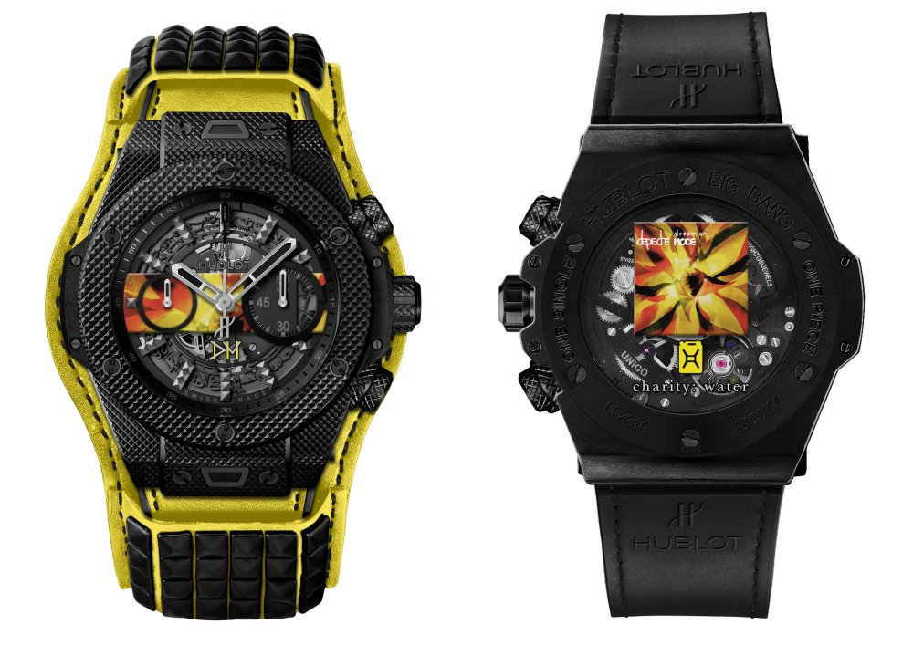 hublot Big Bang Depeche Mode The Singles Limited Edition 1  - Hublot 与 Depeche Mode 摇滚风腕表为慈善助力!