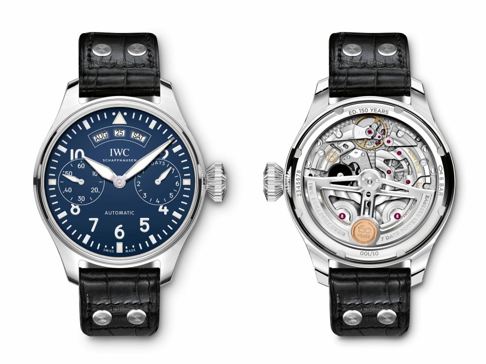iwc jubilee collection pilot watch 2018 annual calender 150 years  - IWC 飞行员腕表系列添大将!