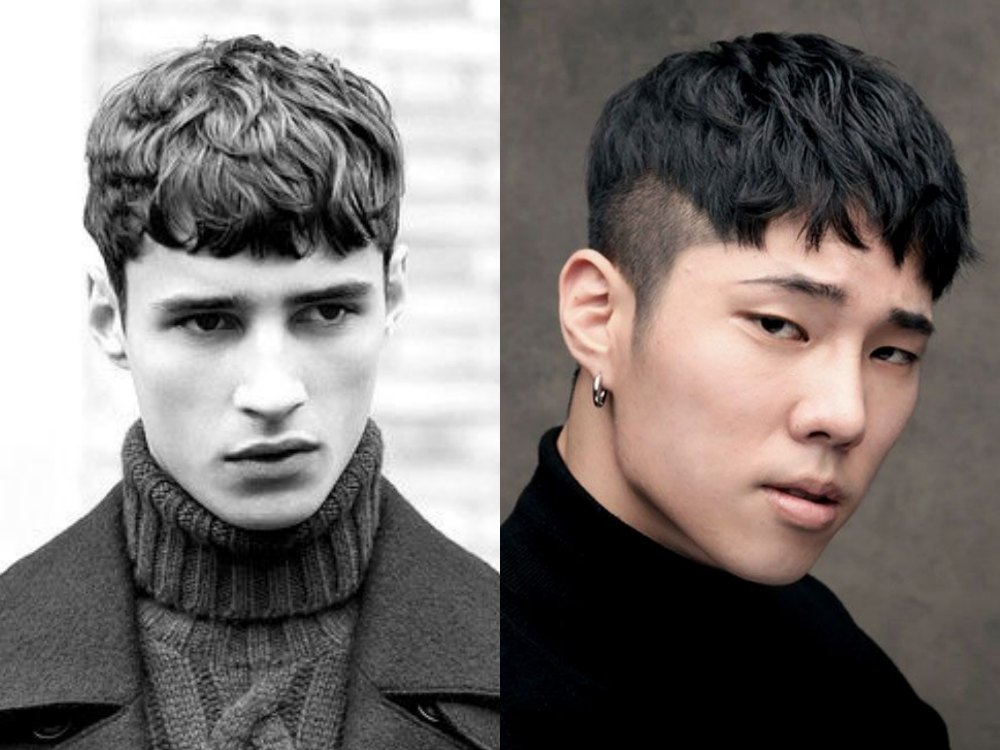 men hairstyle textured and curly fringe 1 - 4款时尚又减龄的浏海造型!
