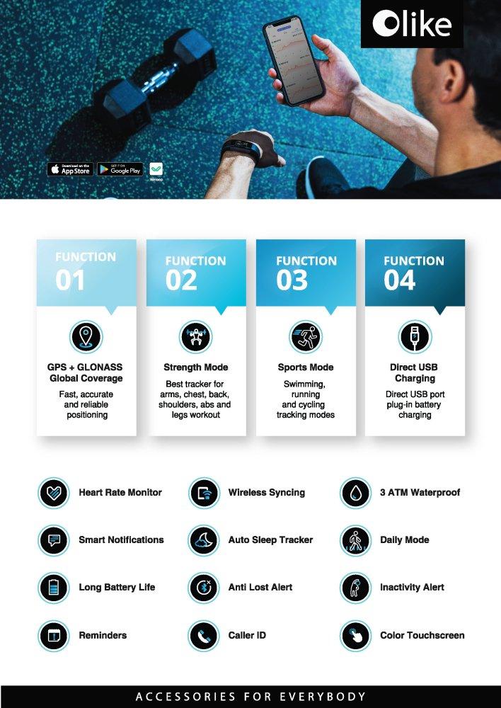 olike malaysia weloop neo pro fitness band 5 - Weloop Neo 将运动风尚佩戴于腕间!