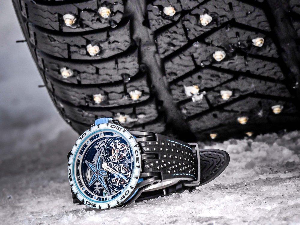 roger dubuis excalibur spider pirelli sottozero BIG - Roger Dubuis 展现雪钉轮胎的极致耐力