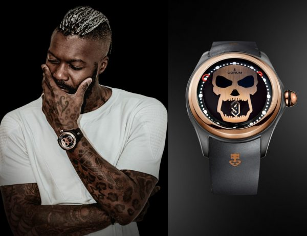 Corum bubble big magical Djibril Cisse 1 600x460 - Corum为品牌挚友Djibril Cissé献出友谊之表!