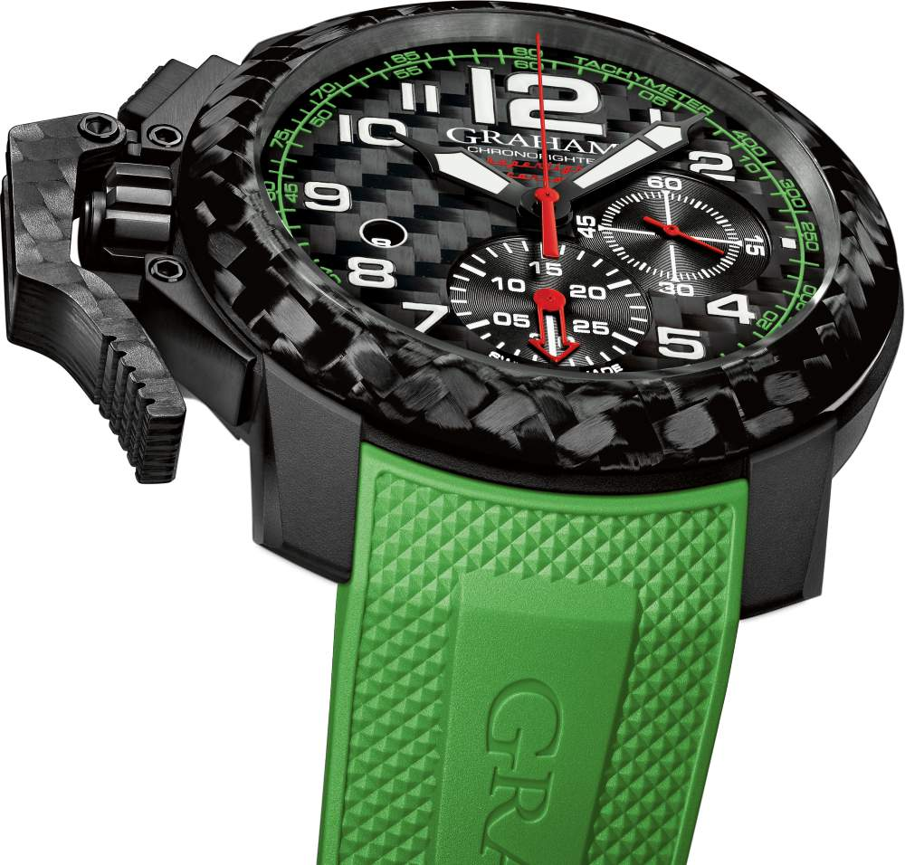 Graham Chronofighter Superlight Carbon watch 2 - Graham Chronofighter Superlight Carbon 玩色于腕间!