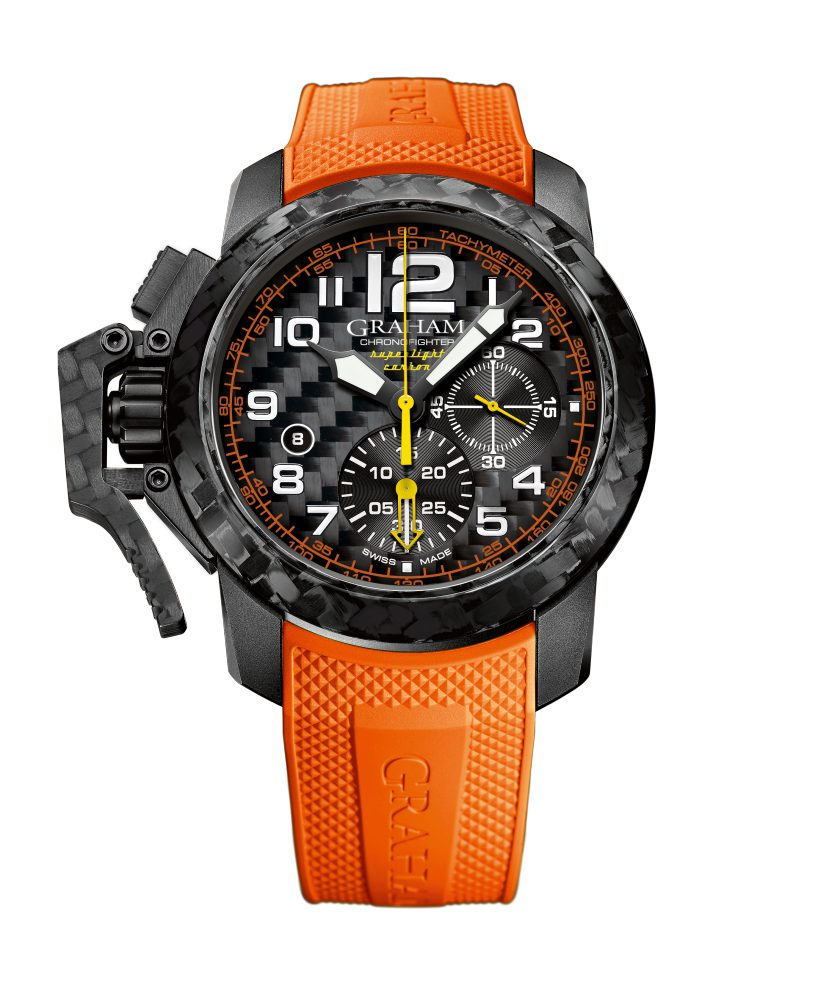Graham Chronofighter Superlight Carbon watch 4 - Graham Chronofighter Superlight Carbon 玩色于腕间!