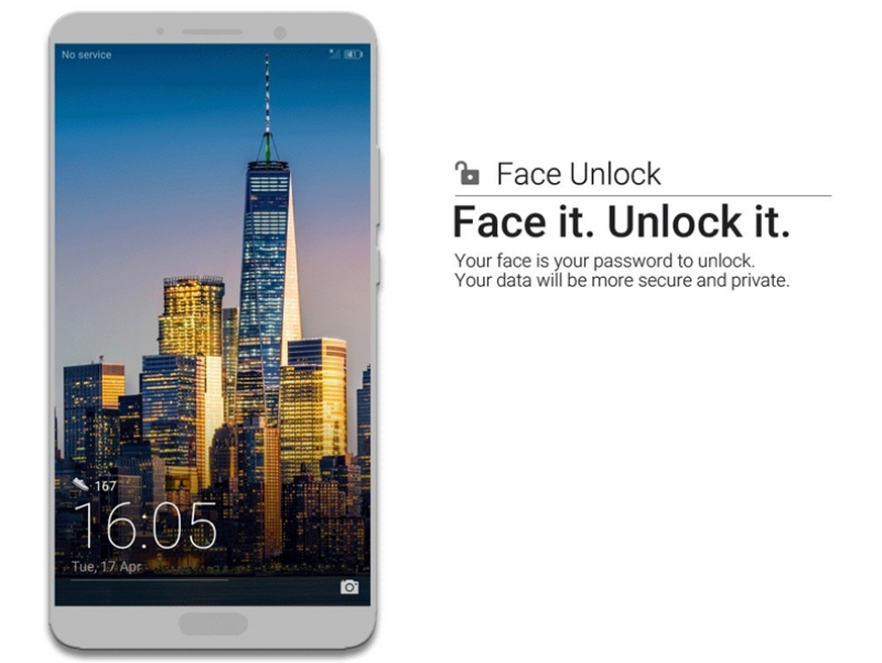 huawei mate 10 series face unlock new feature 2 - Huawei Mate 10 新增脸部识别解锁功能!