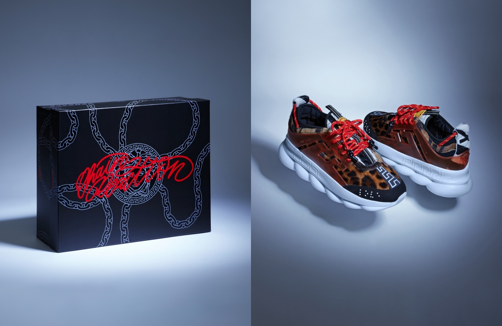 versace chain reaction sneakers box - 数不完的细节!Versace Chain Reaction 强势登场