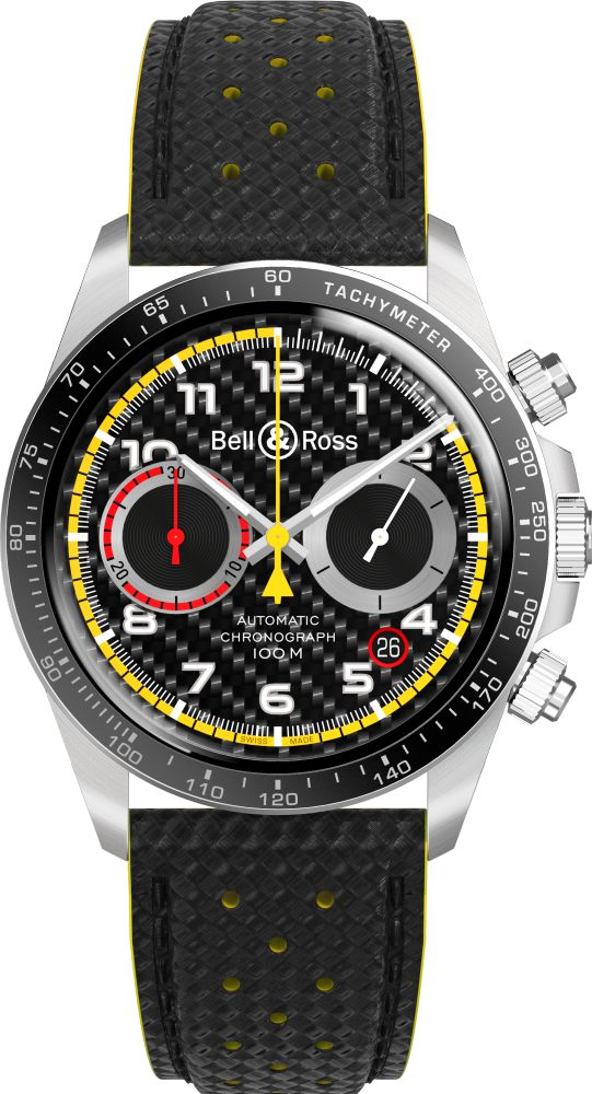 bell ross BRV2 94 RS18 watch cuir  - Bell & Ross 尽显竞速气势!
