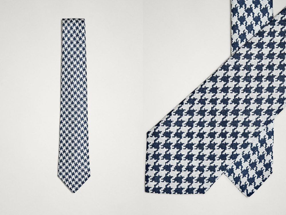 you need a tie to complete your style houndstooth - 领带为你戴上儒雅品位!
