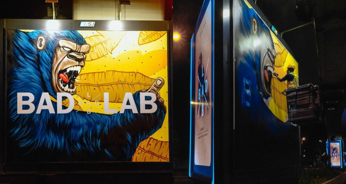 Badlab Billboard Feature - BADLAB 坏男孩上街涂鸦