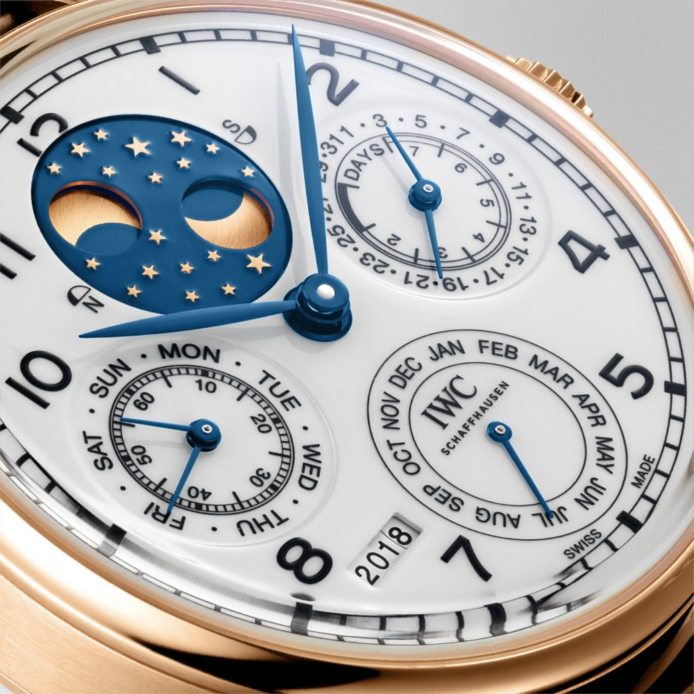 "IWC The Portugieser Perpetual Calendar Edition ""150 Years"" details - 读懂你的表盘:日历表款解析"