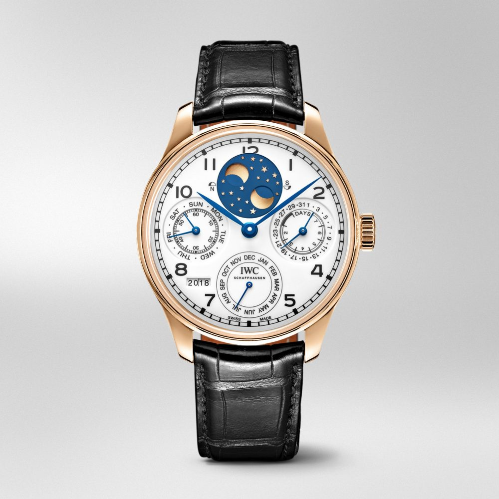 "IWC The Portugieser Perpetual Calendar Edition ""150 Years"" - 读懂你的表盘:日历表款解析"