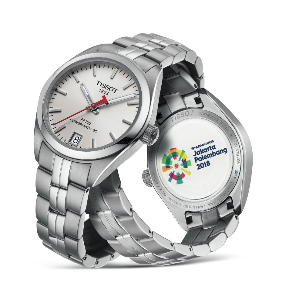 TISSOT ASIAN 2018 Edition PR 100 Automatic 2 - TISSOT 18TH ASIAN GAMES EDITION 创造下一刻分秒传奇