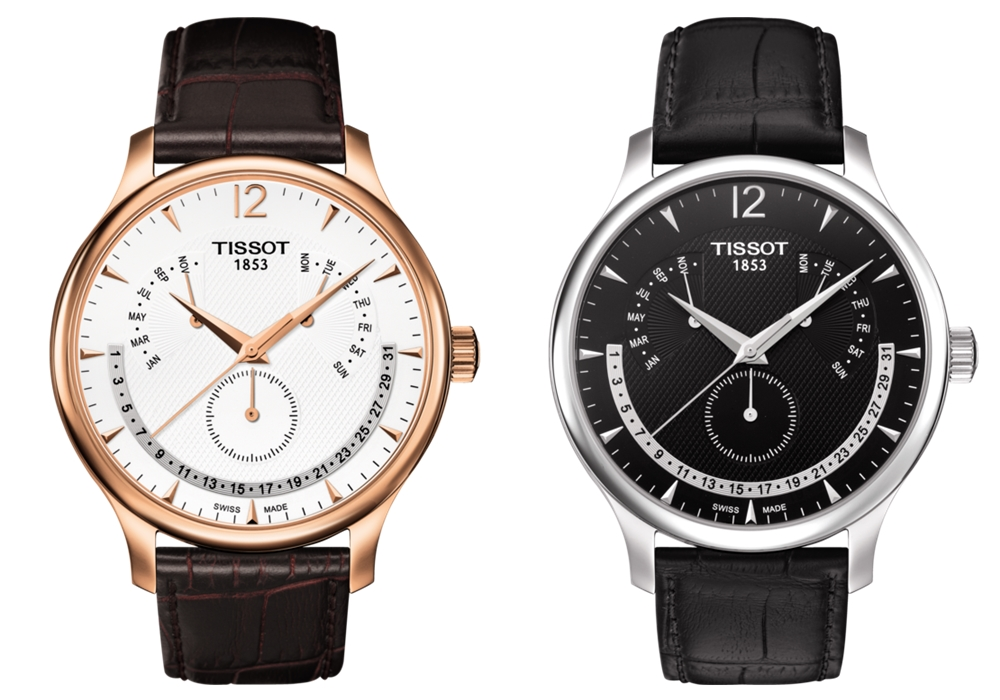 Tissot Tradition Perpetual Calendar color - 读懂你的表盘:日历表款解析
