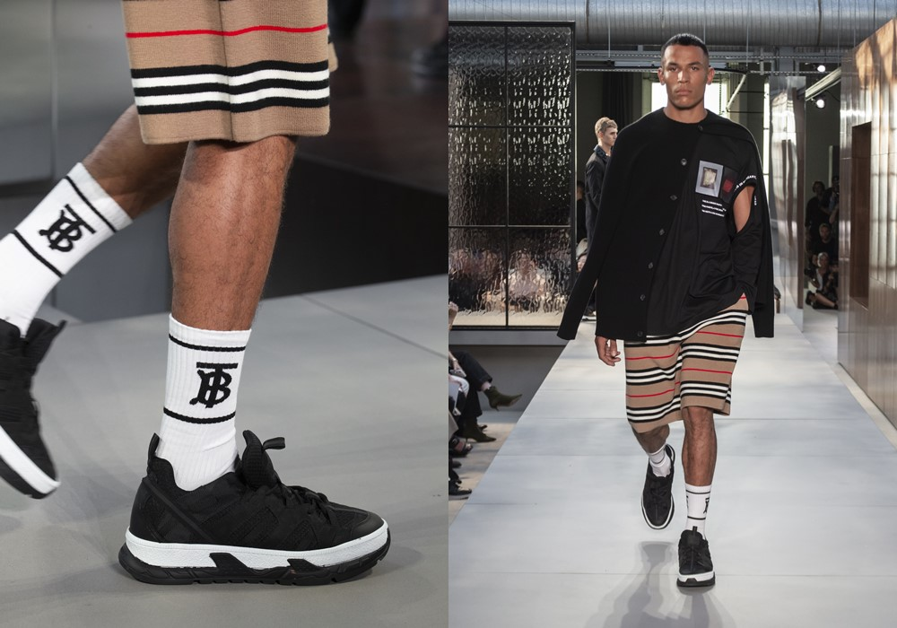 Burberry Spring Summer 2019 mens socks - Riccardo Tisci 首秀,Burberry迈向新篇章