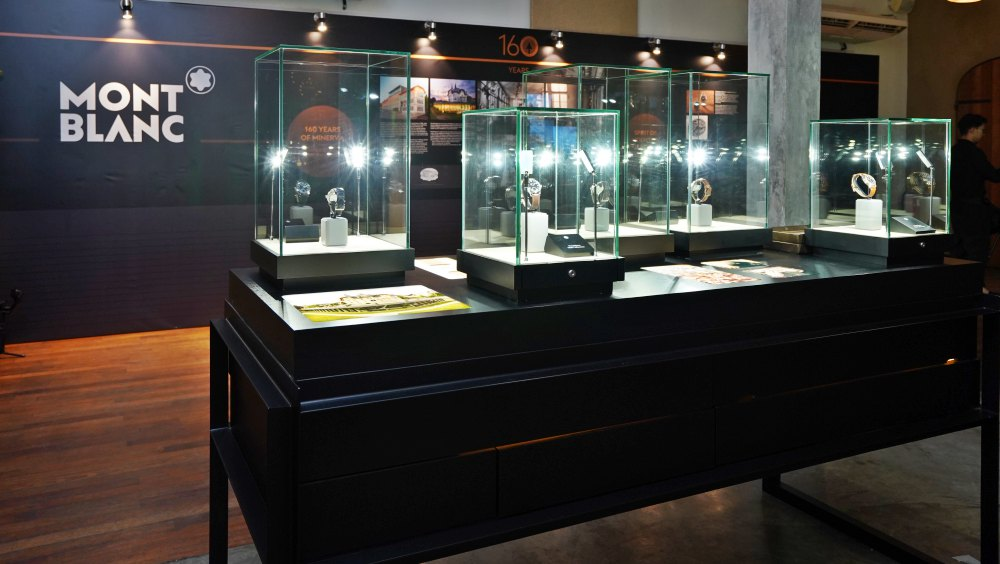 The Montblanc 1858 collection was displayed alongside the Minerva timeline - Montblanc 1858 Collection 源自山岳探险精神
