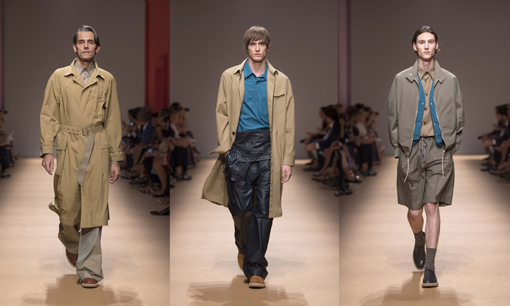 salvatore ferragamo spring summer 2019 mens trench coat - Salvatore Ferragamo 春夏'19 奢华的实用主义!