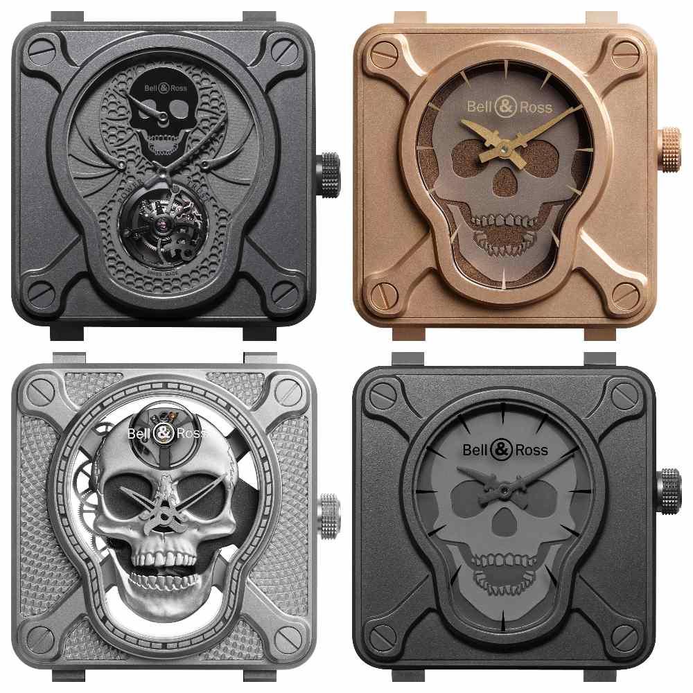 Bell Ross BR01 The laughing Skull MODELS - 万圣节的黑色幽默:BELL & ROSS The Laughing Skull