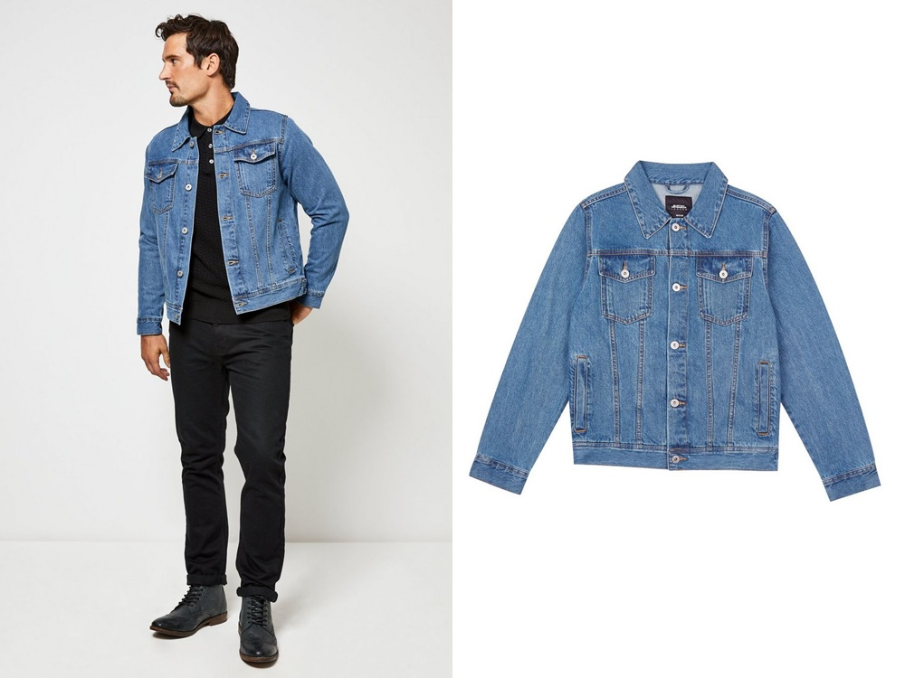 Burton Menswear midwash denim jacket - 秋冬精选:21款丹宁外套