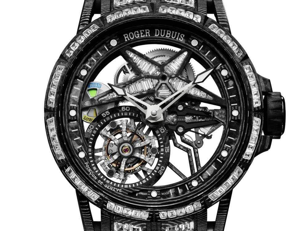 Excalibur Spider Ultimate Carbon Roger Dubuis Dial - Roger Dubuis Excalibur Spider Ultimate 碳纤维腕表的震撼技艺