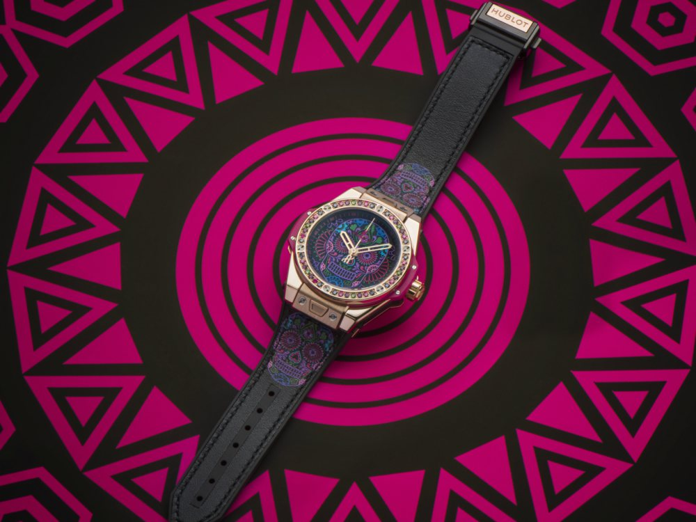 Life in Hublot Colours One Click Calavera Catrina Siar Mexico - 墨西哥骷髅的色彩印记:Hublot Big Bang 亡灵节限量表款