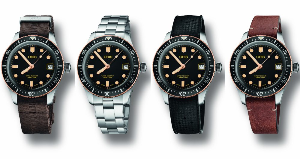 Oris Divers Sixty Five With Date - A Touch of Bronze:ORIS Divers Sixty-Five 潜水腕表复古问世