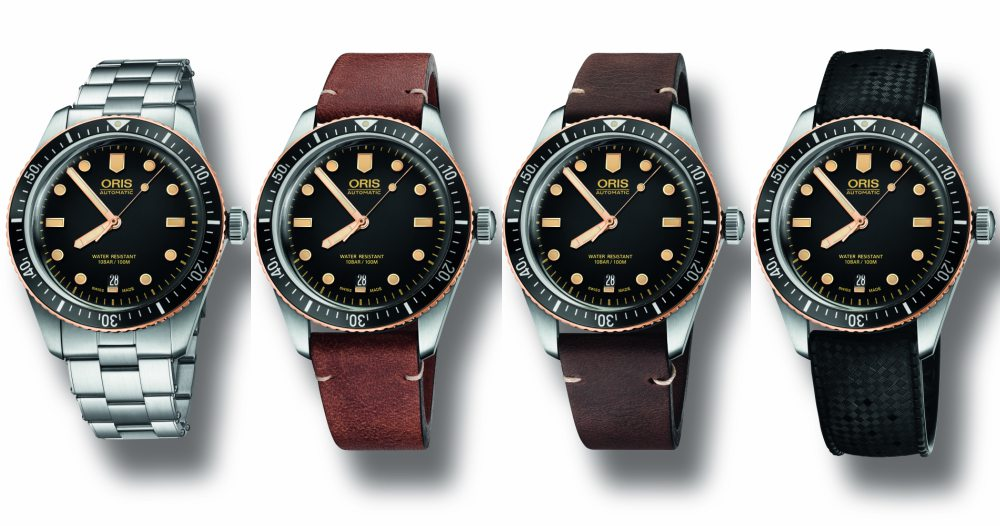 Oris Divers Sixty Five no date - A Touch of Bronze:ORIS Divers Sixty-Five 潜水腕表复古问世