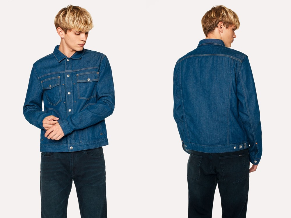 PS Paul Smith Indigo Rinse Pleat Front Denim Jacket - 秋冬精选:21款丹宁外套