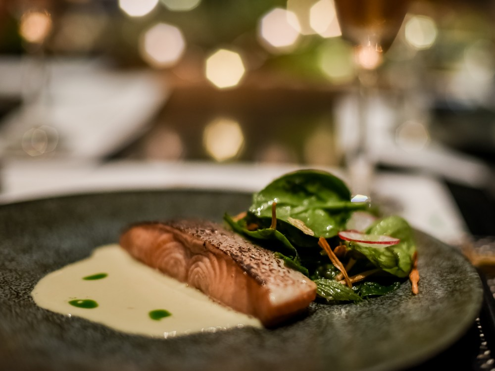 Perrier Jouet Yuan Miso Salmon with Yuzu Cream and Daun Kaduk - 法国 Pierre-Jouët 香槟任米其林一星名厨 Jeff Ramsey 为厨师大使