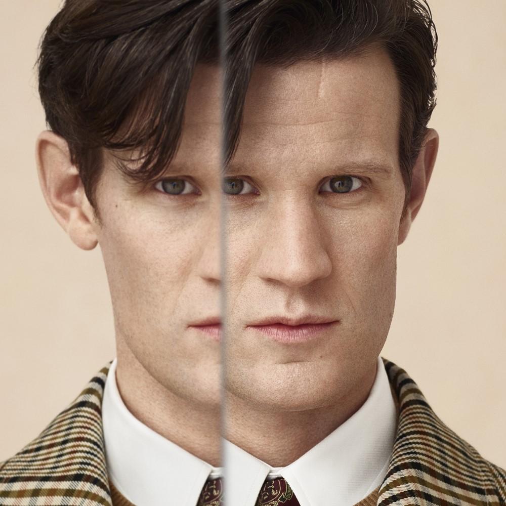 Portrait of Matt Smith Burberry Festive Campaign 2018 - Burberry 打造悬疑的英伦圣诞夜