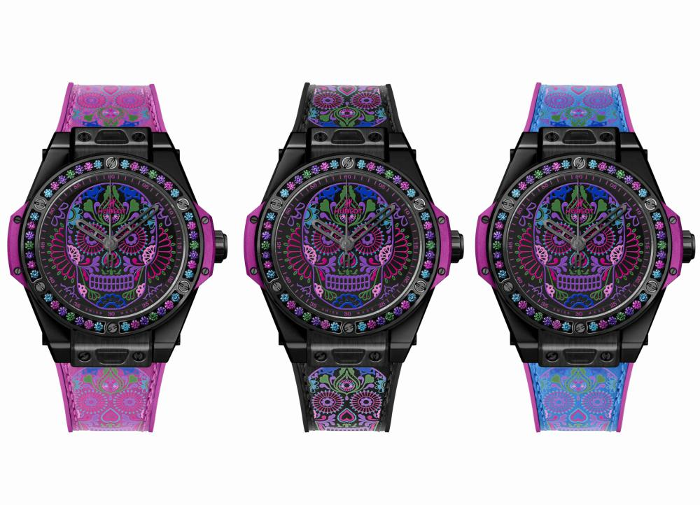 Skull Tattooed Big Bang One Click Calvera Catrina Hublot - 墨西哥骷髅的色彩印记:Hublot Big Bang 亡灵节限量表款