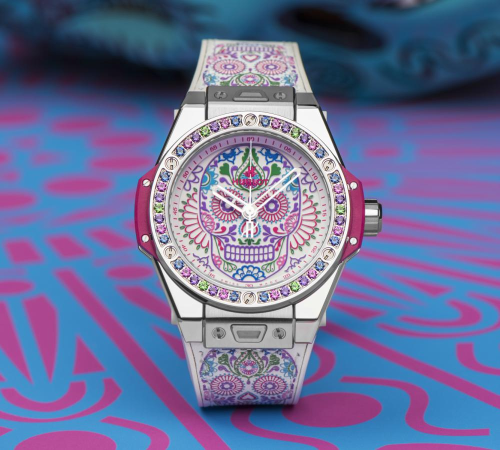 Skull Tattoored Hublot Big Bang Siar Mexico One Click Calavera Catrina - 墨西哥骷髅的色彩印记:Hublot Big Bang 亡灵节限量表款