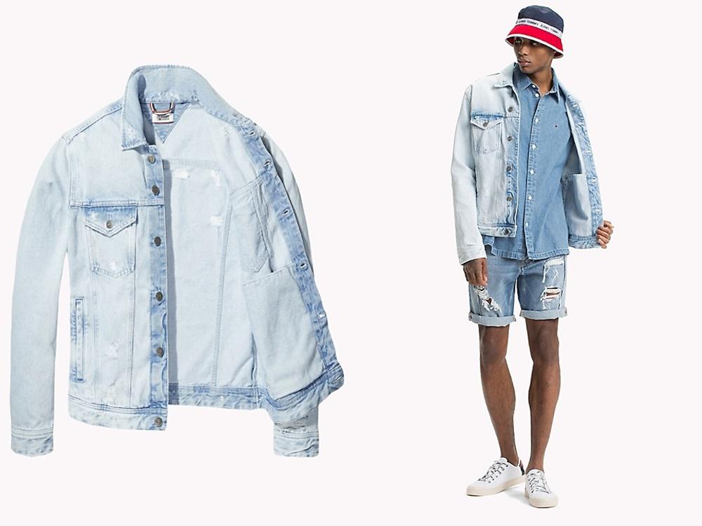Tommy Hilfiger tommy jeans xplore acid wash jean jacket 2018 - 秋冬精选:21款丹宁外套