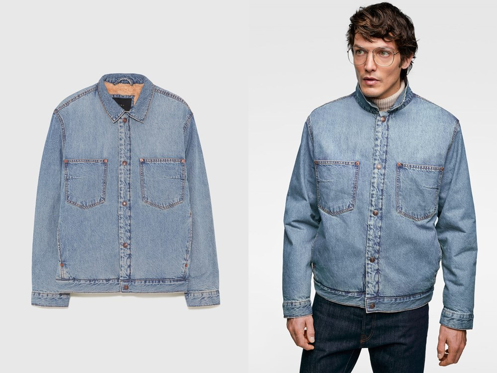 Zara Denim jacket with fuzzy interior RM349.00 - 秋冬精选:21款丹宁外套