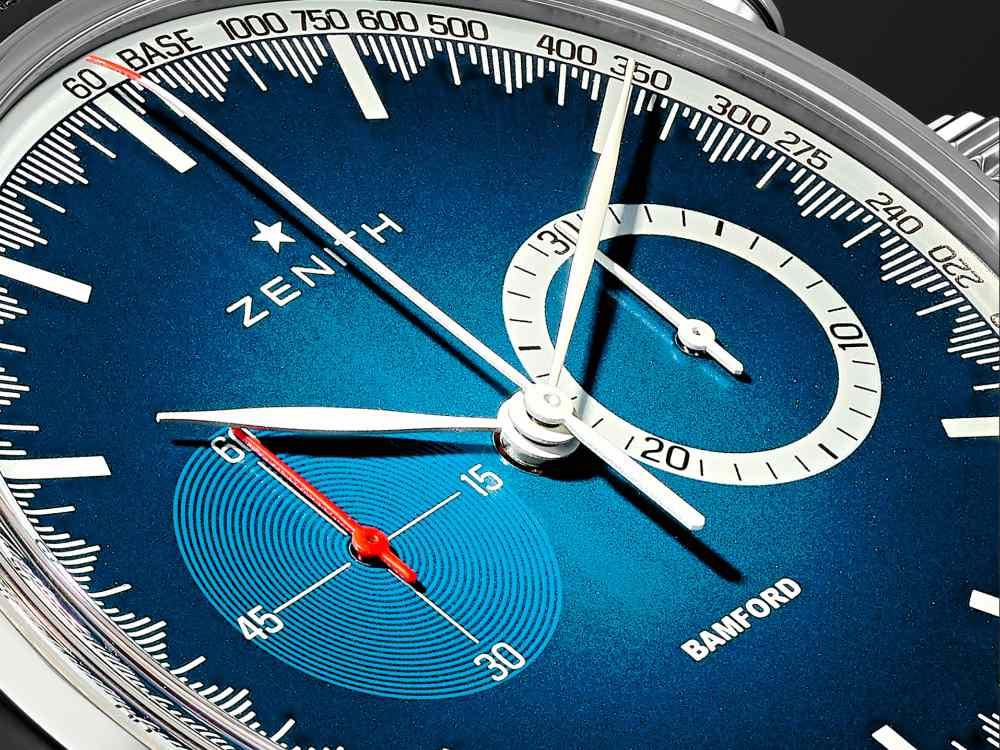 Zenith x Bamford Watch Mr Porter Blue Dial - 三强演义:Zenith x BWD x Mr Porter 推出25枚独家限量腕表