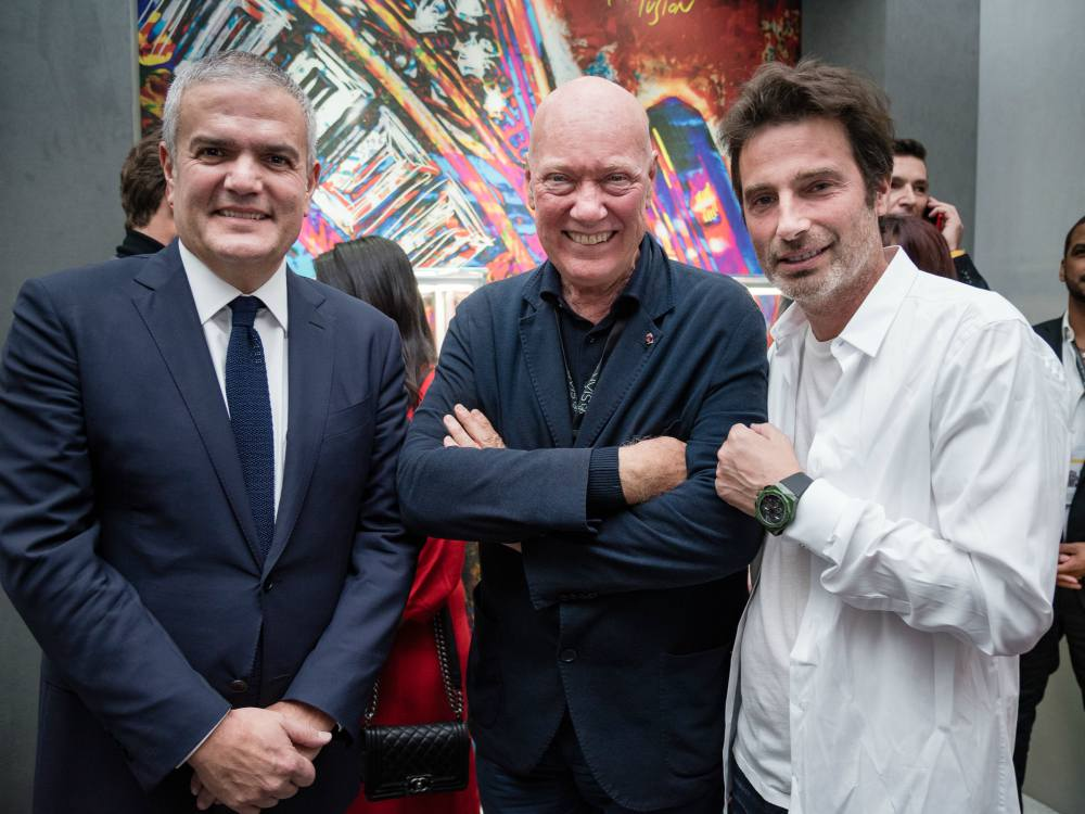 Ricardo Guadalupe Jean Claude Biver and Richard Orlinski - 30枚限量款:Hublot Classic Fusion Aerofusion