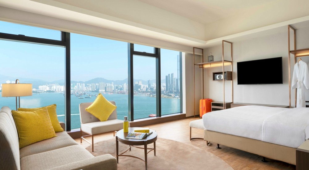 Deluxe Harbour View Studio Island Pacific Hotel HongKong - 至臻升华的住宿体验:香港 Island Pacific Hotel