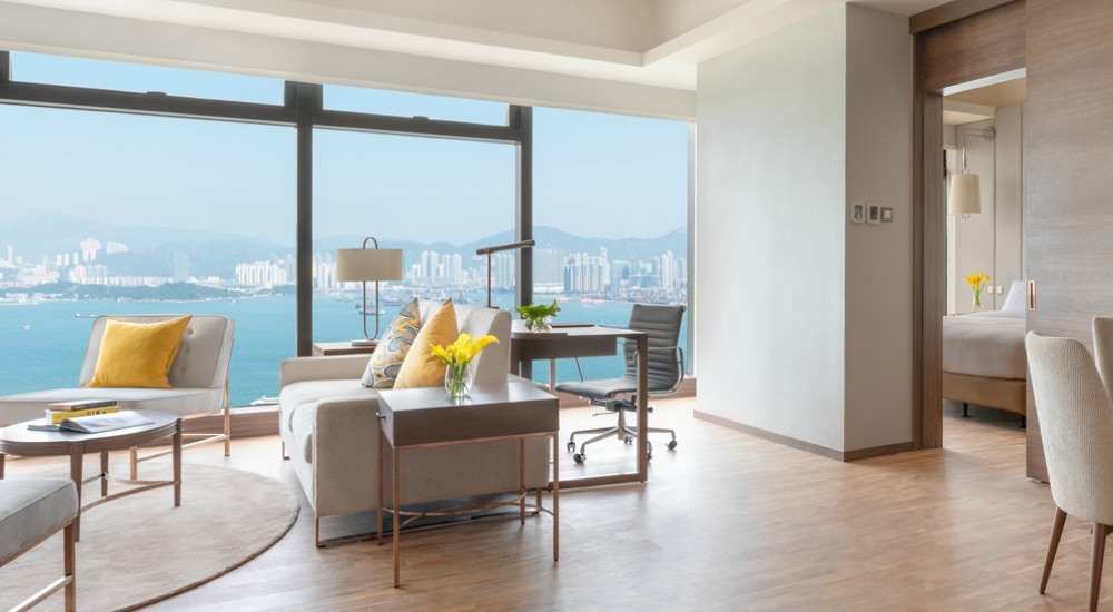 Deluxe Harbour View Suite Island Pacific Hotel HongKong - 至臻升华的住宿体验:香港 Island Pacific Hotel