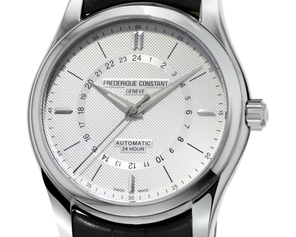 Frederique Constant New Classic 24H Dial Close up - 掌握昼夜时间:Frederique Constant 家族再添24h功能表