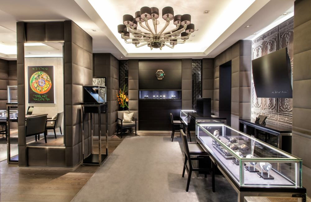 "Hublot celebrates the 5th anniversary of its Munich boutique with a ""Big Bang"" Interior - Hublot 德国慕尼黑精品店欢庆5周年"