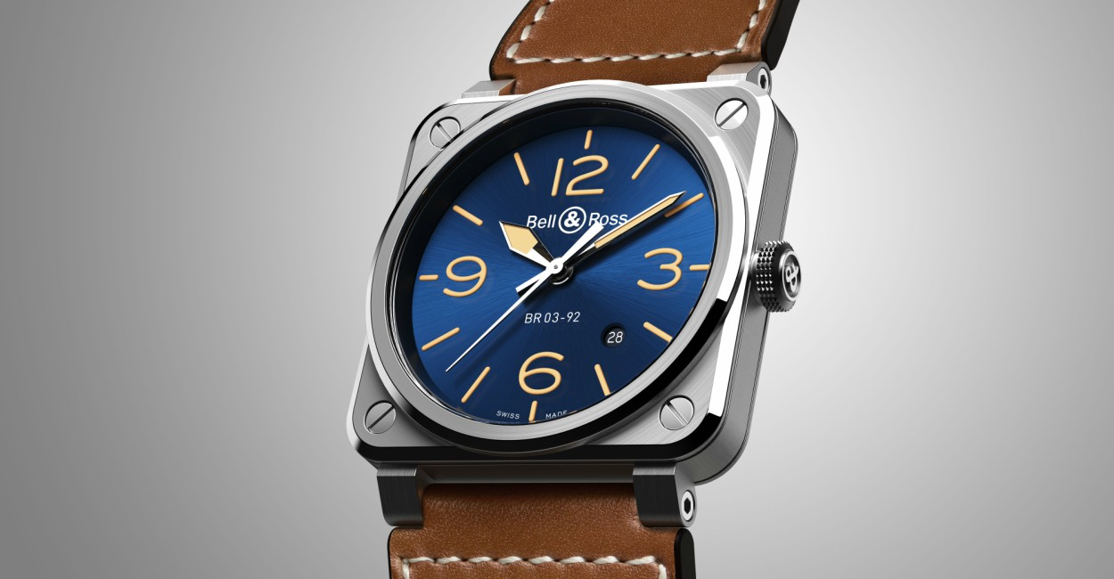 BR 03 92 Blue Golden Heritage Bell Ross Cover - 情忆旧时光:BELL & ROSS  Blue Golden Heritage