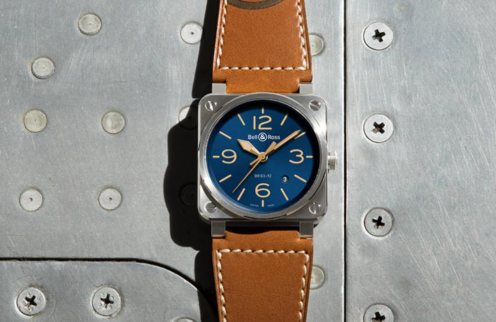 Bell Ross BR03 92 Blue Golden Watch - 情忆旧时光:BELL & ROSS  Blue Golden Heritage
