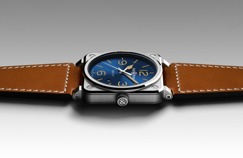 Blue Golden BR03 92 Bell Ross - 情忆旧时光:BELL & ROSS  Blue Golden Heritage